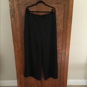 Flowing Black Cocktail Dress Pants